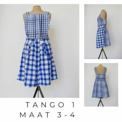 Speelse getailleerde jurk uit duurzaam materiaal TANGO