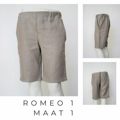 Duurame lange linnen short ROMEO