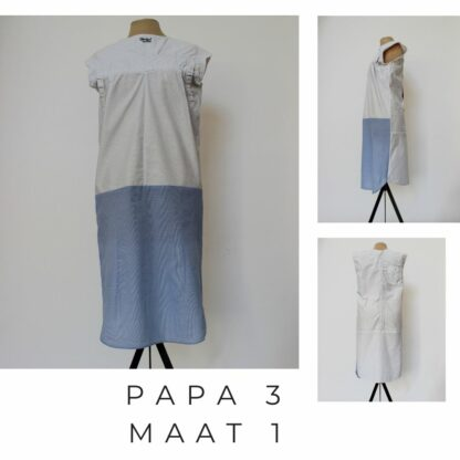 Lange jurk PAPA uit durabel materiaal