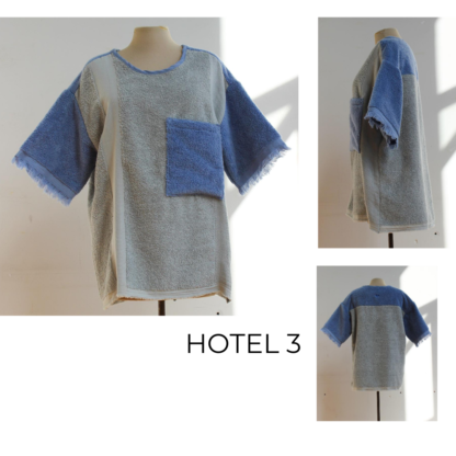 HOTEL t-shirt uit badstof circulair vervaardigd Short QUEBEC uit handdoekstof