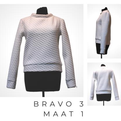 Belgische mode BRAVO trui uit mastrascover.