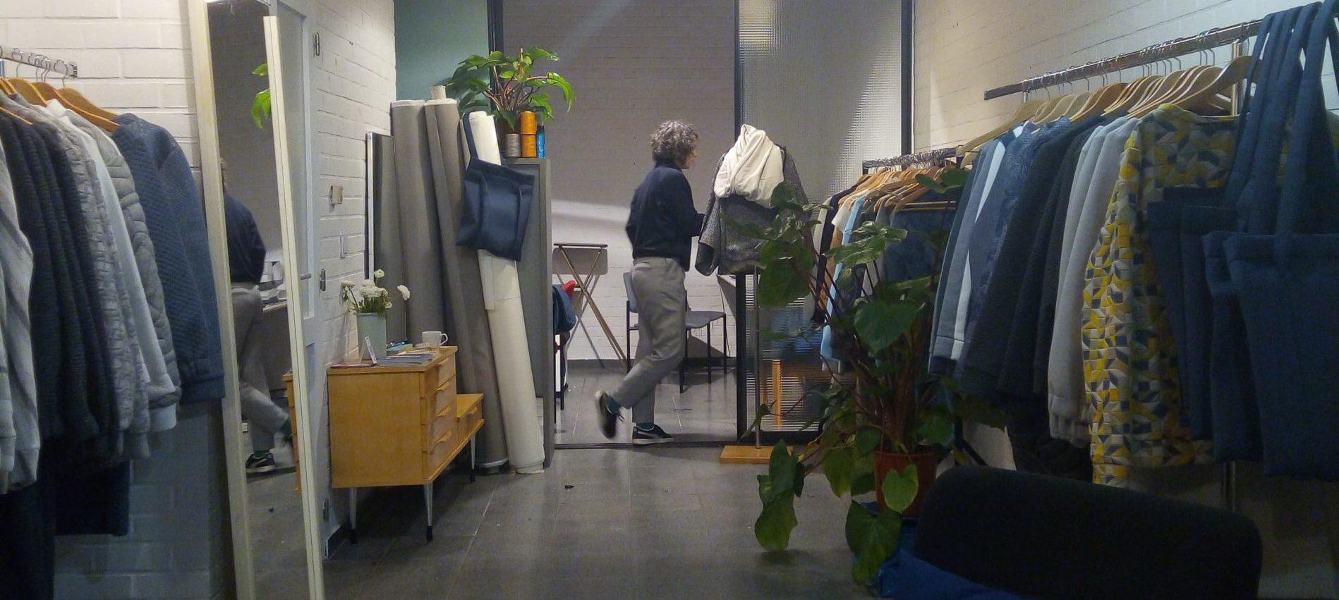 shop winkel workshop atelier studio ama soraya wan;cour ethische duurzame ecologische mode