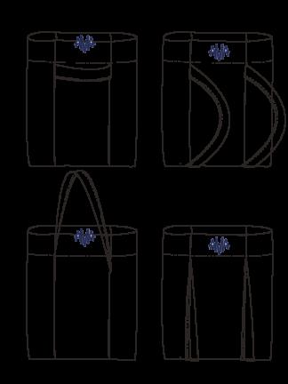 Blauwe multifunctionale durzame Rugzak ALFA