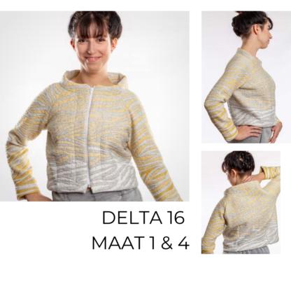 Delta vest van duurzaam materiaal in verchillende kleuren.