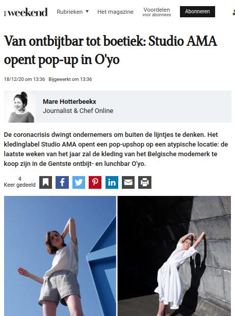 Knack Weekend pop-up Belgisch modemerk