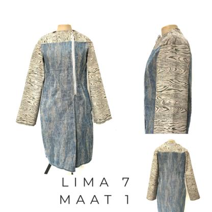 Lange winterjas jas LIMA uit gerecykleerd interieurstoffen