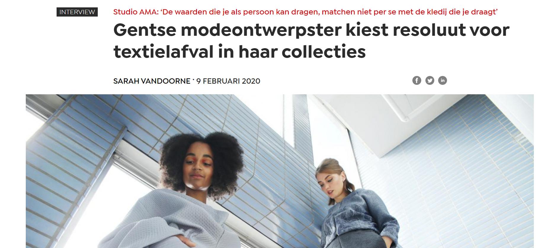mondiaal nieuws pers modeontwerpster textielafval duurzaamheid