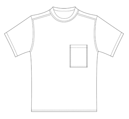 Shortsleeve T-shirt HOTEL technische tekening