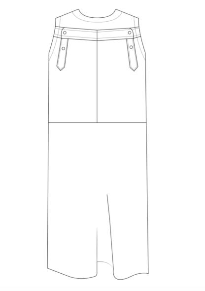 dress PAPA technische tekening