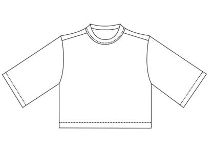 shortsleeve T-shirt technische tekeing