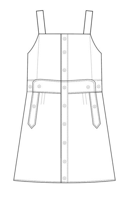 kleed TANGO technische tekening