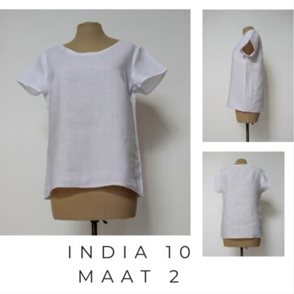 T-shirt INDIA uit gercykleerd linnen materiaal