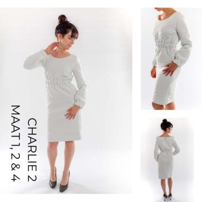 Ligte jurk van gerecykleerd matras stof CHARLIE