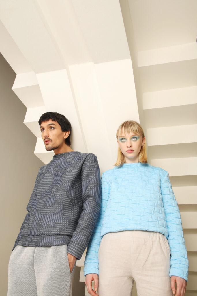 fotoshoot blauwe bravo sweater