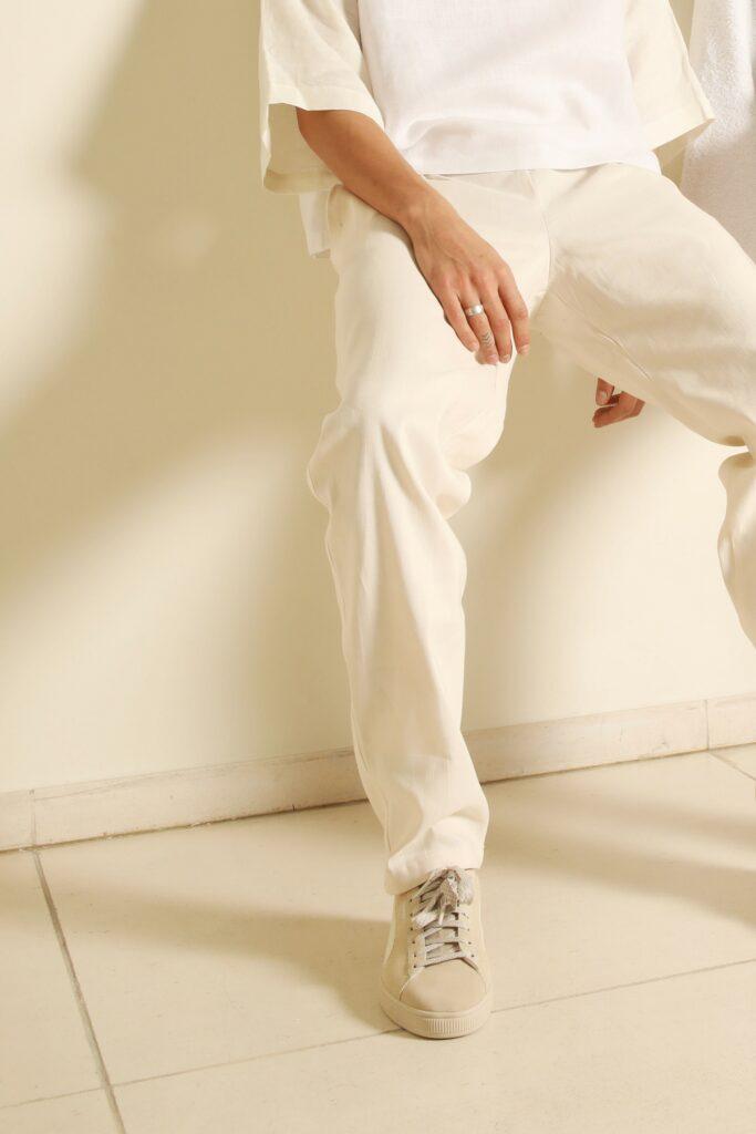 broek wit linnen circulair