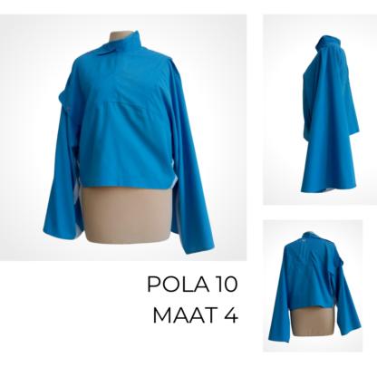 blauwe duurzame top POLA