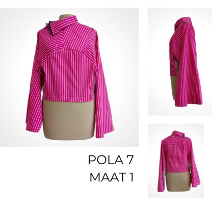 Roze duurzame top POLA